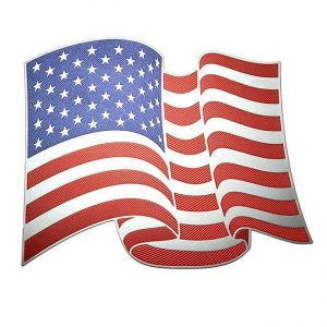 American Flag Metal Sticker Decal
