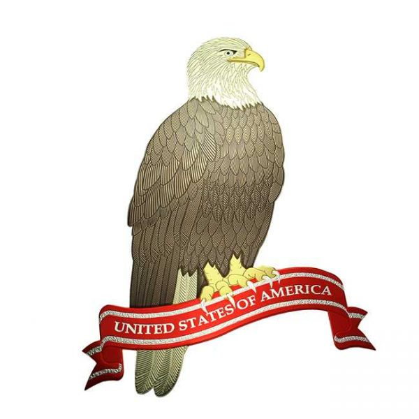 Bald Eagle Metal Sticker Decal