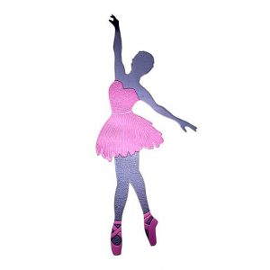 Ballerina Metal Sticker Decal