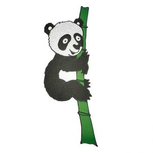 Bamboo Panda Metal Sticker Decal