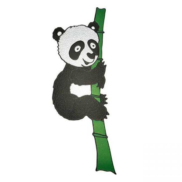 Bamboo Panda Metal Sticker Decal