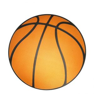 Basketball Metal Sticker Decal
