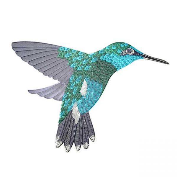 Buzz Hummingbird Metal Sticker Decal