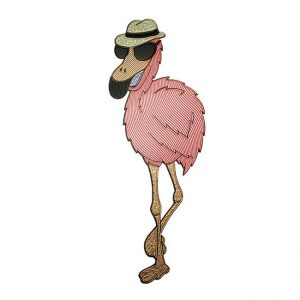 Carlos Flamingo Metal Sticker Decal