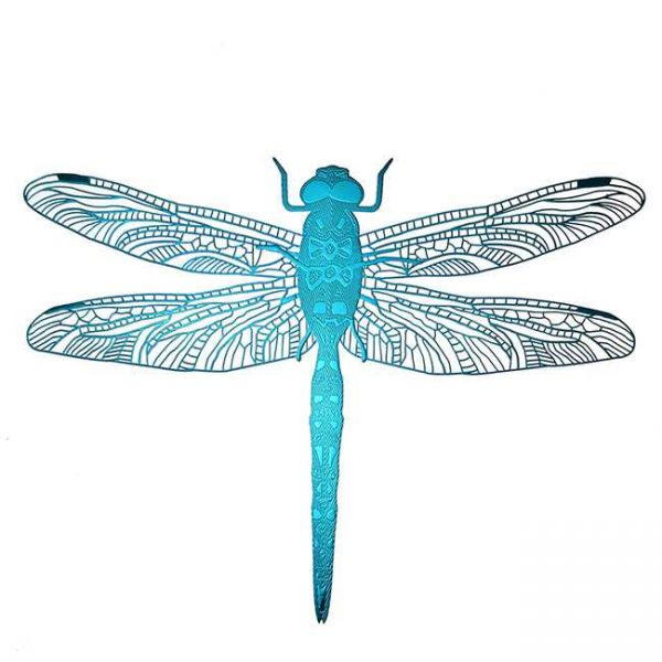 Charlie Dragonfly Metal Sticker Decal