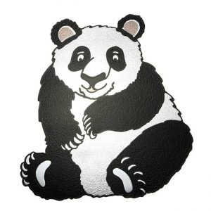 Chubbs Panda Metal Sticker Decal