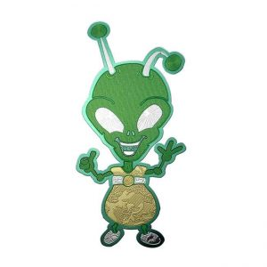 Comet Alien Metal Sticker Decal