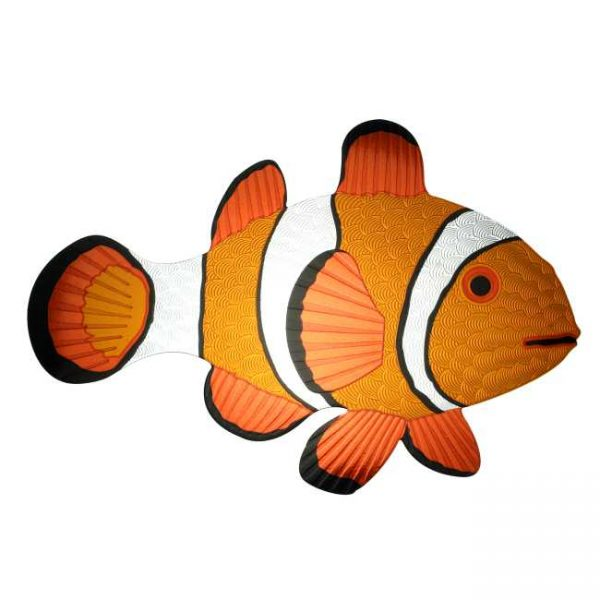 Coral Clownfish Metal Decal Sticker JAT Creative Products