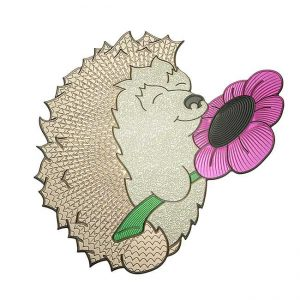 Daisy Hedgehog Metal Sticker Decal