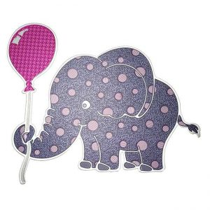 Dottie Elephant Metal Sticker Decal