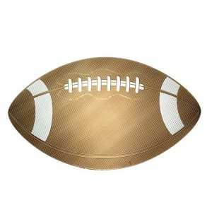 Football Metal Sticker Decal