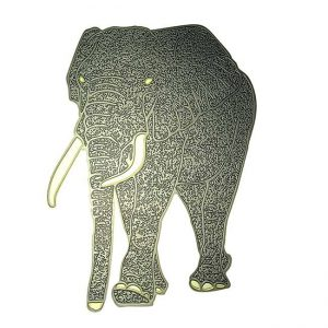 Gerald Elephant Metal Sticker Decal