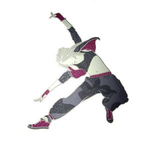 Hip Hop Dancer Metal Sticker Decal