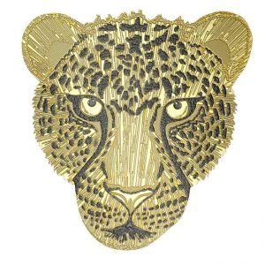 Lightning Cheetah Metal Sticker Decal
