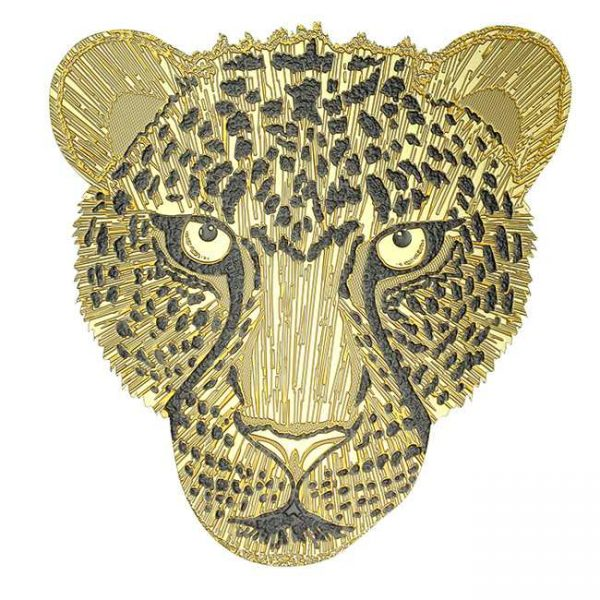 Lightning Cheetah Metal Sticker Decal