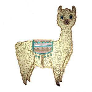 Lola Llama Metal Sticker Decal