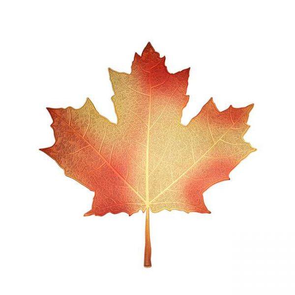 Maple Leaf Metal Sticker Decal