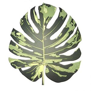 Monstera Leaf Metal Sticker Decal