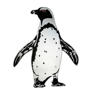 Mr Wadsworth Penguin Metal Decal Sticker