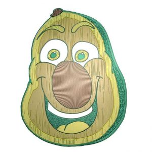 Ollie Avocado Metal Sticker Decal