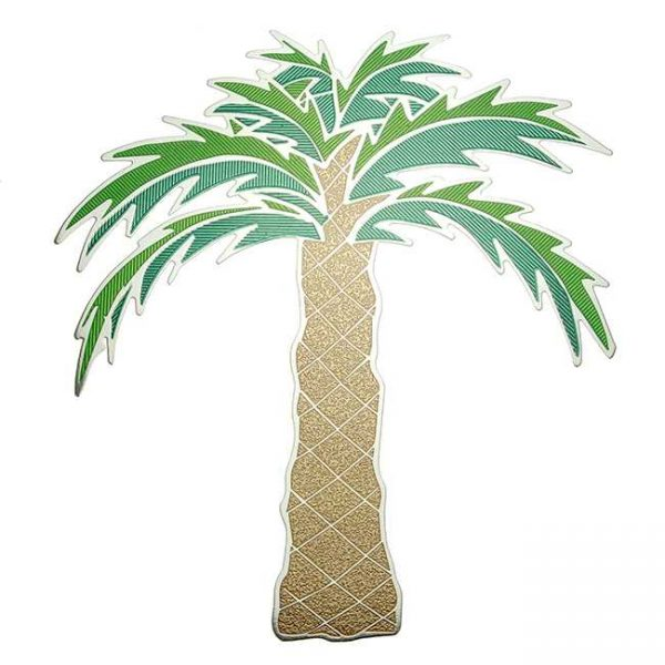Palm Tree Metal Sticker Decal