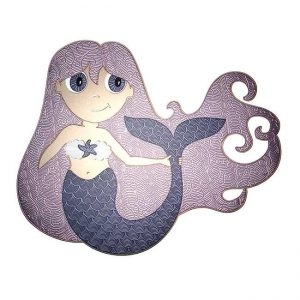Pearl Mermaid Metal Sticker Decal
