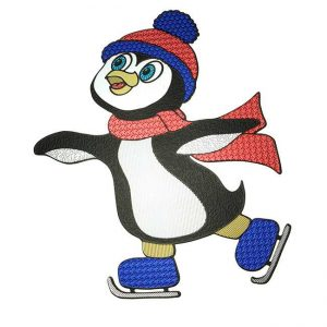 Penny Penguin Metal Sticker Decal