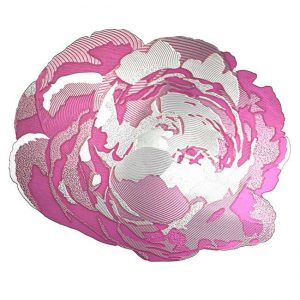 Peony Metal Sticker Decal