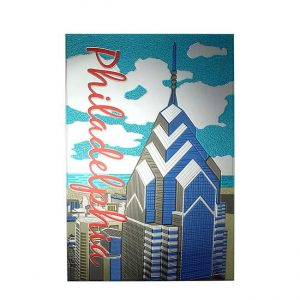 Philadelphia Skyline Metal Sticker Decal