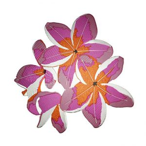 Plumeria Metal Sticker Decal