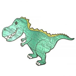 Rexy T-Rex Metal Sticker Decal