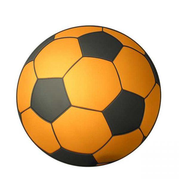 Soccer Metal Sticker Decal