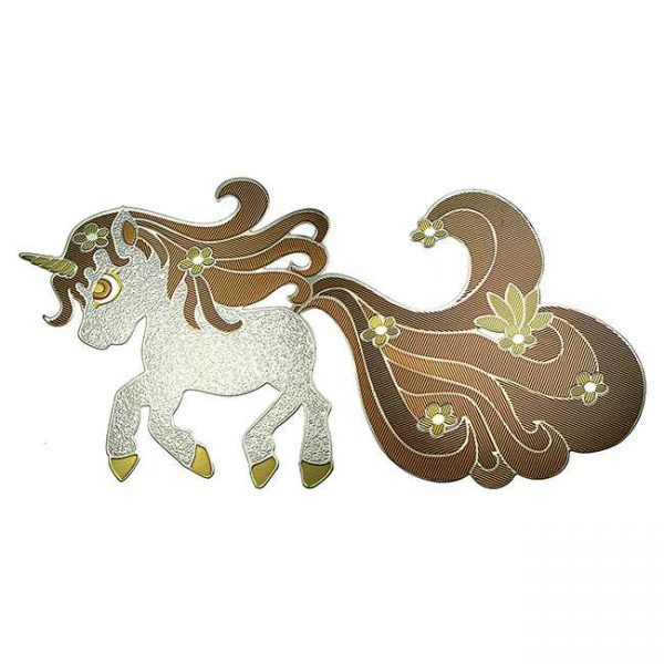 Sparkles Unicorn Metal Sticker Decal